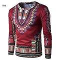 (Transporte rápido) iki design de moda africano tradicional impresso cotton Dashiki Camisetas para unisex (FEITO NA TAILÂNDIA)