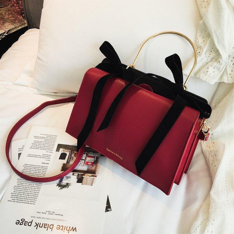 b83a56a299ec 2019 женская сумка на плечо с бантом, модная женская сумка, сумка на плечо