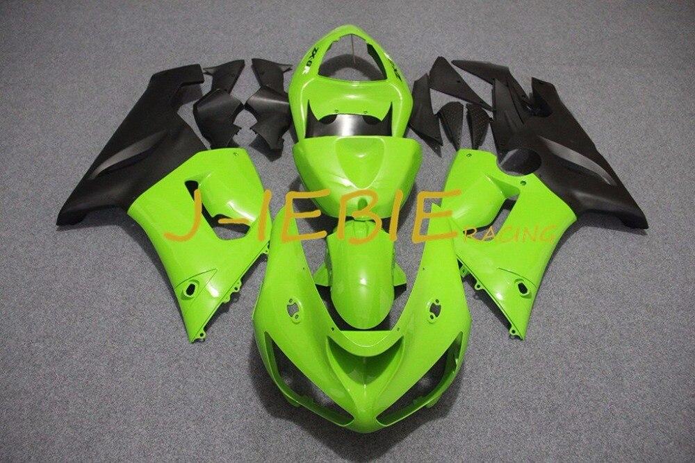 Green black Injection Fairing Body Work Frame Kit for Kawasaki NINJA ZX6R ZX6 ZX 6 R 2005 2006