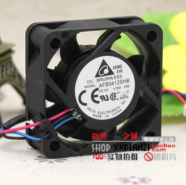 Autêntico e Original 12 V 4015 0.35A AFB0412SHB grande volume de ar dupla bola ventilador de velocidade