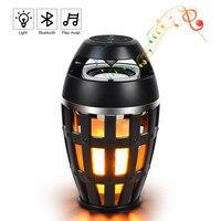 Kmashi led炎ランプ夜ライトbluetoothワイヤレススピーカータッチソフトライト用iphoneアンドロイドクリスマスギフトmp3音楽プレーヤ