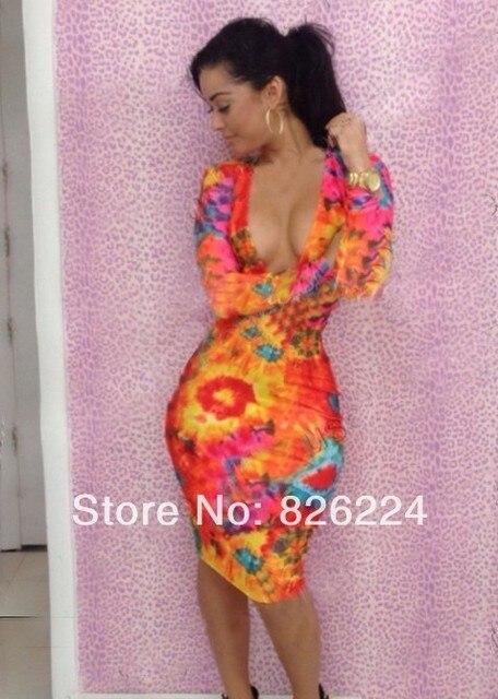 Sz8617 Wholesale Plus Size Bodycon Dresses Women Long Sleeve Girls