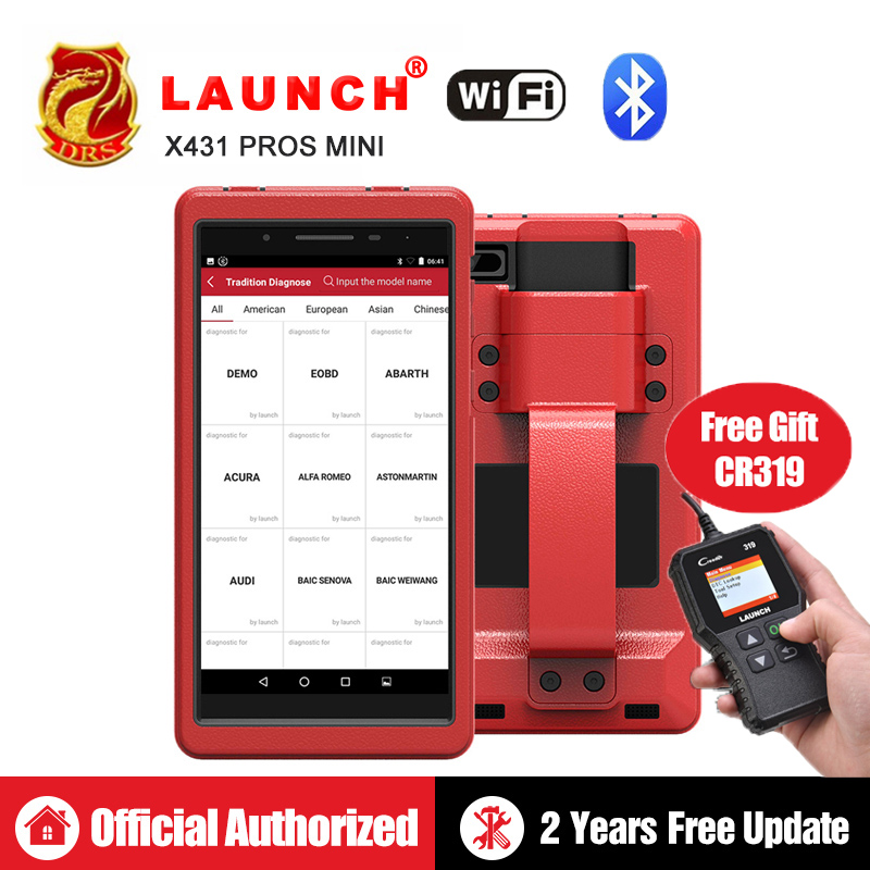 Auto Diagnosis Tool Launch X431 Pros Mini With 6.8'' Tablet Pc Support Wifi/Bluetooth Full Systems Free 2 Year Online Update