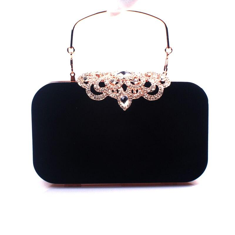 Rhinestone de cristal de diamante de moda de lujo de terciopelo de las mujeres p