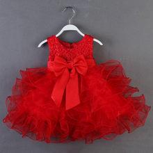 Платье для маленьких девочек платье для новорожденных детей кружевной платье принцессы для маленьких девочек; Платье на день рождения, кос...