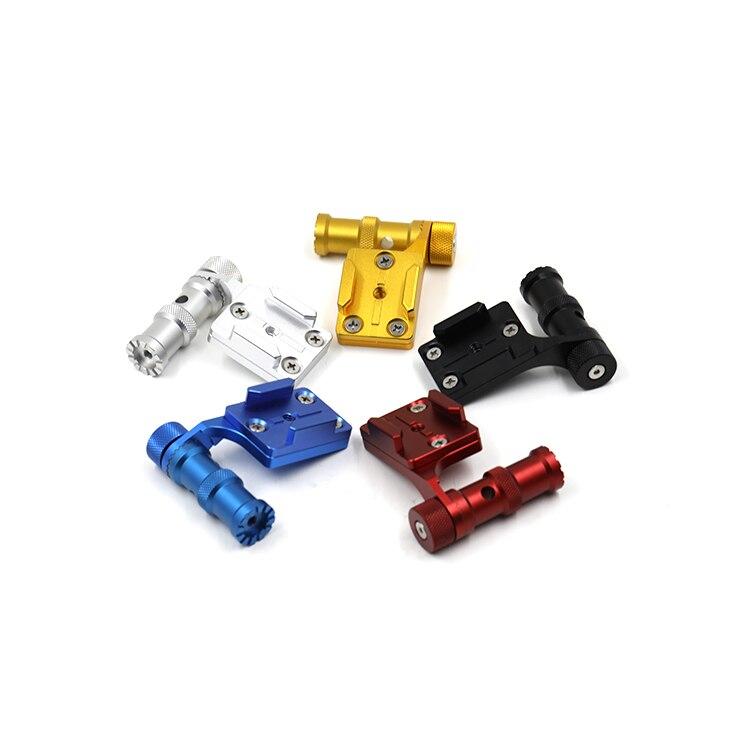 Cnc en aluminium vélo stand support de montage adaptateur de support de base pour gopro hero4/5 xiaomi yi sj5000 sport caméra f20506/10
