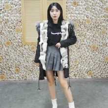 купить Camouflage winter jacket 2019 women outwear thick parkas natural real fox fur collar coat Natural women long fashion detachable дешево