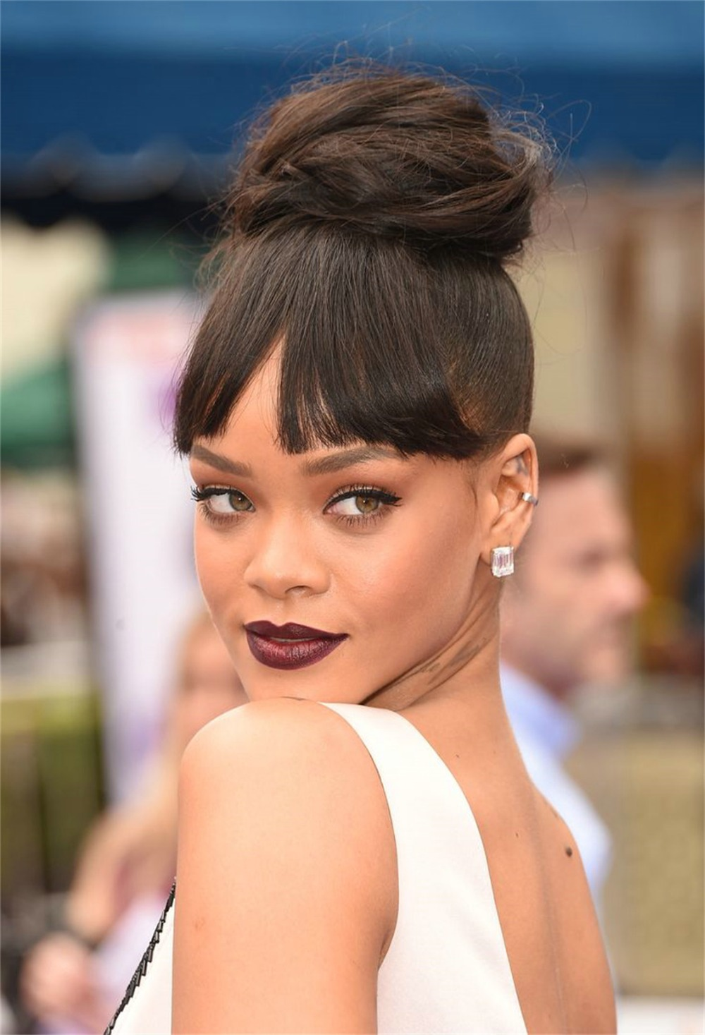 Rihanna Clip In Black Straight Human Hair Fringe Or Bangs Extension From Extensions Wigs On Aliexpress