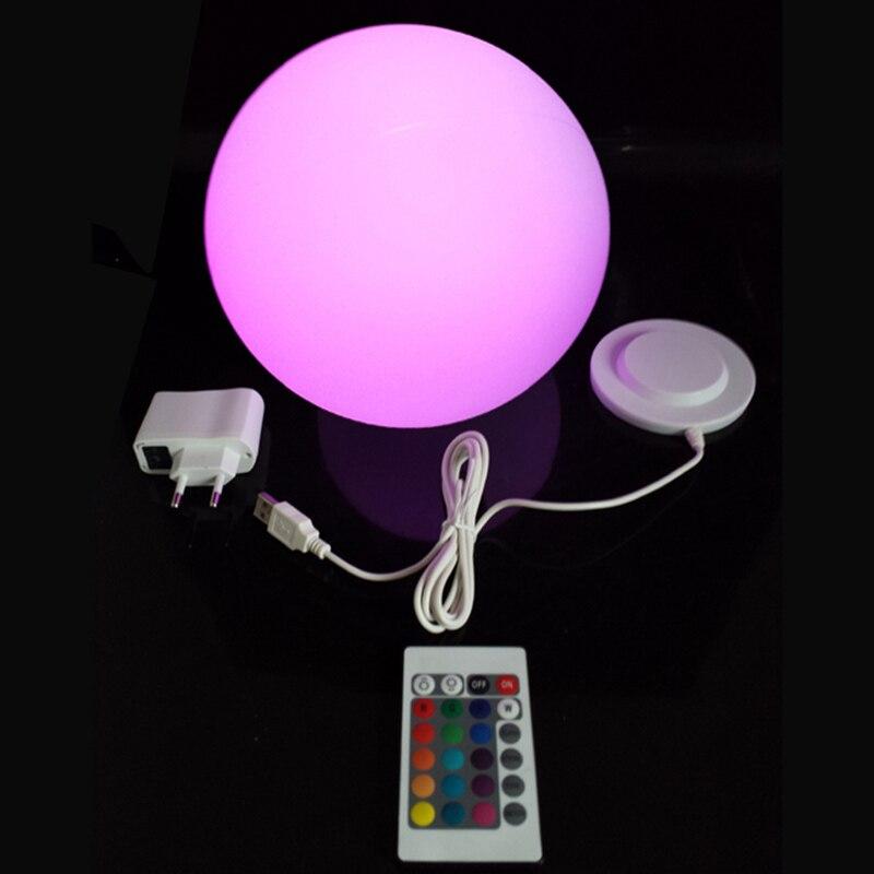 D15cm LED Ziemassvētku bumbiņu lampas Ūdensizturīgas āra / iekštelpu LED dekoru lampas Hard Globe Light kāzu dekorēšanai 4gab. / Lot