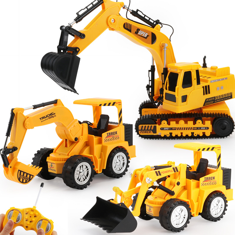 Image 2 - Wireless Remote Control Car Engineering Vehicle 12 Channels Mining Hook Machine Charging Forklift Bulldozer Model Rc Toy Store-in RC Cars from Toys & Hobbies