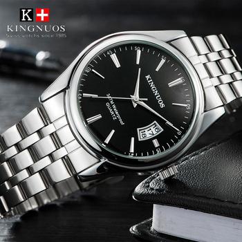 2021 Top marka luksusowy męski zegarek 30m wodoodporny data zegar męskie zegarki sportowe mężczyźni kwarcowy Casual Wrist Watch Relogio Masculino tanie i dobre opinie KINGNUOS 24cm Moda casual QUARTZ 3Bar Składane bezpieczne zapięcie CN (pochodzenie) STAINLESS STEEL Hardlex Kwarcowe zegarki