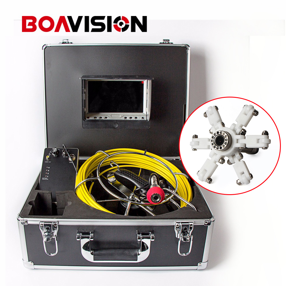30M/100ft Cable Underwater Duct Cleaning Tube Pipe Inspection Camera Drain Waterproof Pipe Sewer Camera CMOS 1000TVL 12Leds 7 tft sewer pipe inspection snake video camera 600tvl 12 led 30m osd regulation stainless steel lens pipeline drain w2022