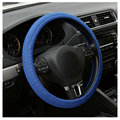 2015 hot sale Car Auto Universal Elastic Handmade Skidproof Steering Wheel Cover Blue/Black