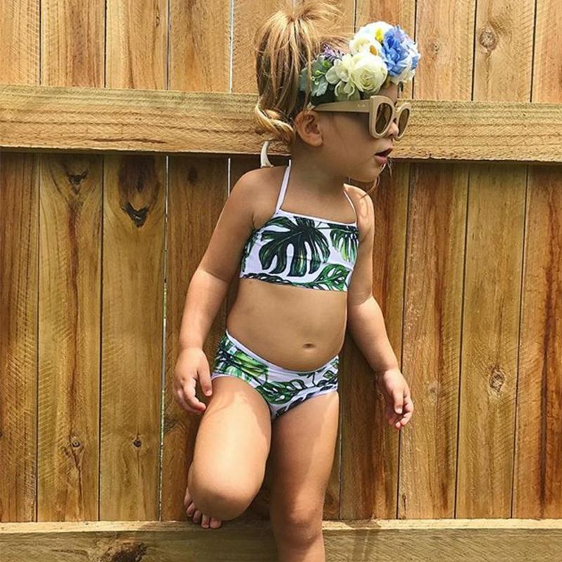 1-5 Years Children Swimwear Girls Swimsuit Baby Kids Biquini Infantil Bikini Summer Bathing Suit Купальник
