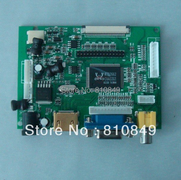 HDMI+VGA+2AV Lcd controller Board work with Lots of LCD panel Driver Board hdmi vga 2av lcd controller board with 7inch n070icg ld1 39pin reversal1280x800 ips touch lcd