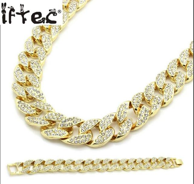 Miami cuban link chain gold color fully iced out hip hop bling 2016 miami cuban link chain gold color fully iced out hip hop bling 2016 hot sale new aloadofball Images