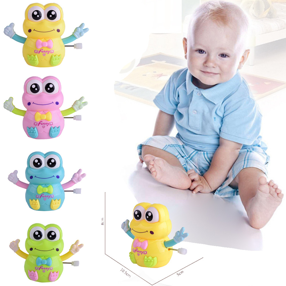 Baby Kids Clockwork Funny Toy Cartoon Froggy Clockwork Car Educational Toys Education Toy Baby Toys & Games Children