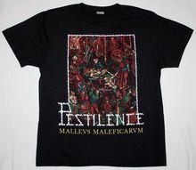 T Shirt Fashioncotton Men O-Neck Pestilence Malleus Maleficarum Death Metal Asphyx Gorguts New Black Short-Sleeve Shirts