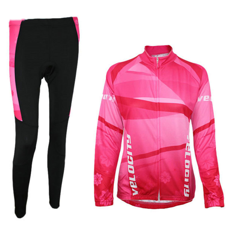 Compression Sunscreen Long Sleeve Cycling Jerseys Women Quick Dry Hiking Outdoor Jacket Tights Pants Bicycle Sportswear Sets
