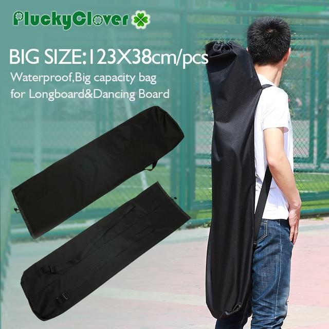 123x38cm Black Waterproof Electric Longboard Backpack Skateboard Carry Bag Dance Board Drift Travel