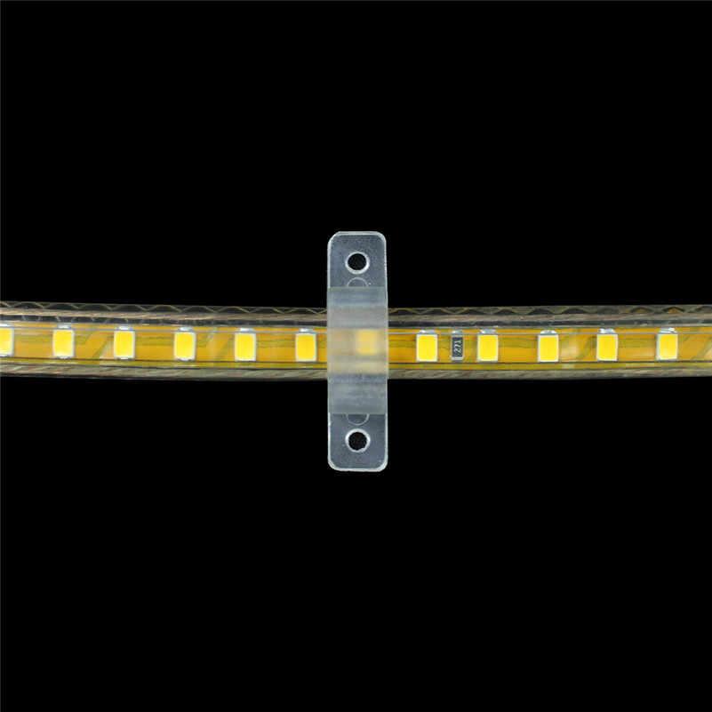 50 sztuk LED mocowania silikonowe klipsy montażowe klamry zaciski do 220V 5050 2835 wodoodporna taśma LED taśma oświetlająca B