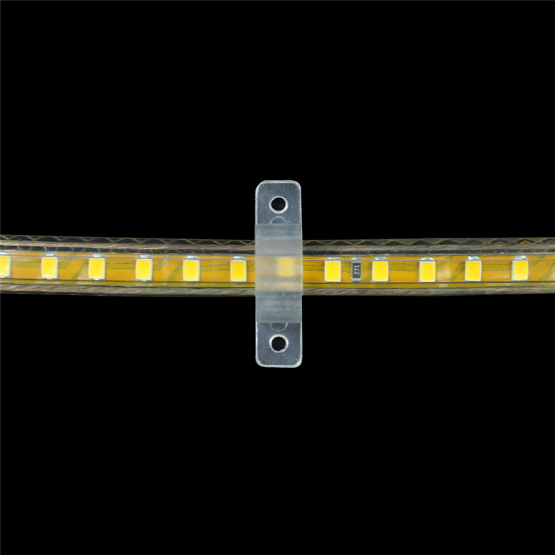 50Pcs/lot 10mm LED Fixing Silicon Mounting Clips For 220V waterproof SMD 5050 2835 LED Strip Light Connector 220V LED Tape