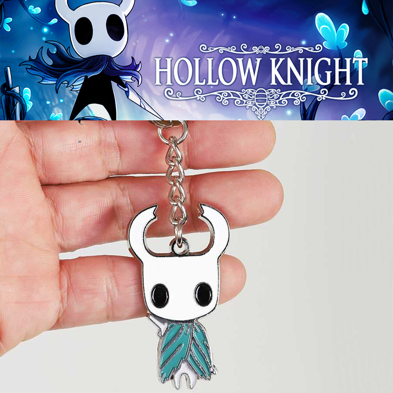 Game Hollow Knight Keychain Cosplay Props Enamel Keyring Women Men Christmas Halloween Gifts