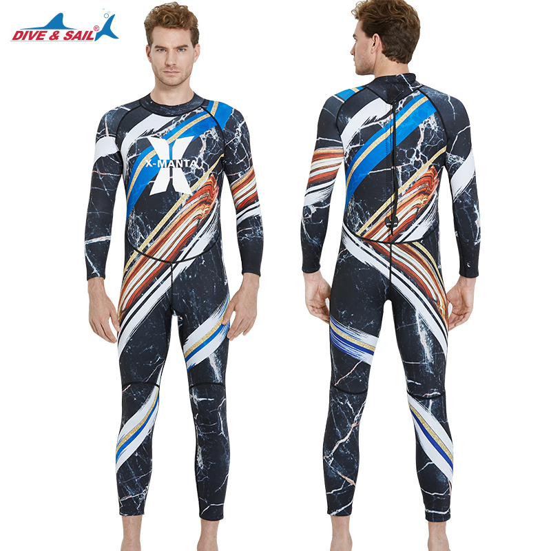 Free Shipping DIVE&SAIL Full Body Marine Style Scuba Dive Wetsuit Men 1.5mm Neoprene Snorkeling Surfing Swimwear Suit Jumpsuit sun protection full body stinger suit dive skin with hood lycra wetsuit nylon swimwear one piece jump suit for scuba snorkeling