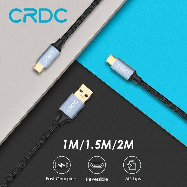Crdc Тип USB C кабель для Xiaomi MI5 Тип-C быстрой зарядки данных нейлон USB C/USB-C кабель для Samsung Galaxy S8 Nexus 5x6 P и более