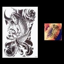 1 PC Creative Lifelike Fish Temporary Tattoo HB090 Waterproof For Women Men Body Art Fake Flower Arm Sleeve Tattoo Paper Sticker