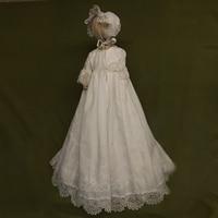 Шляпа для маленьких девочек, платья на крестины, однотонные платья с короткими рукавами и круглым вырезом, а силуэт, кружевное платье на пуг