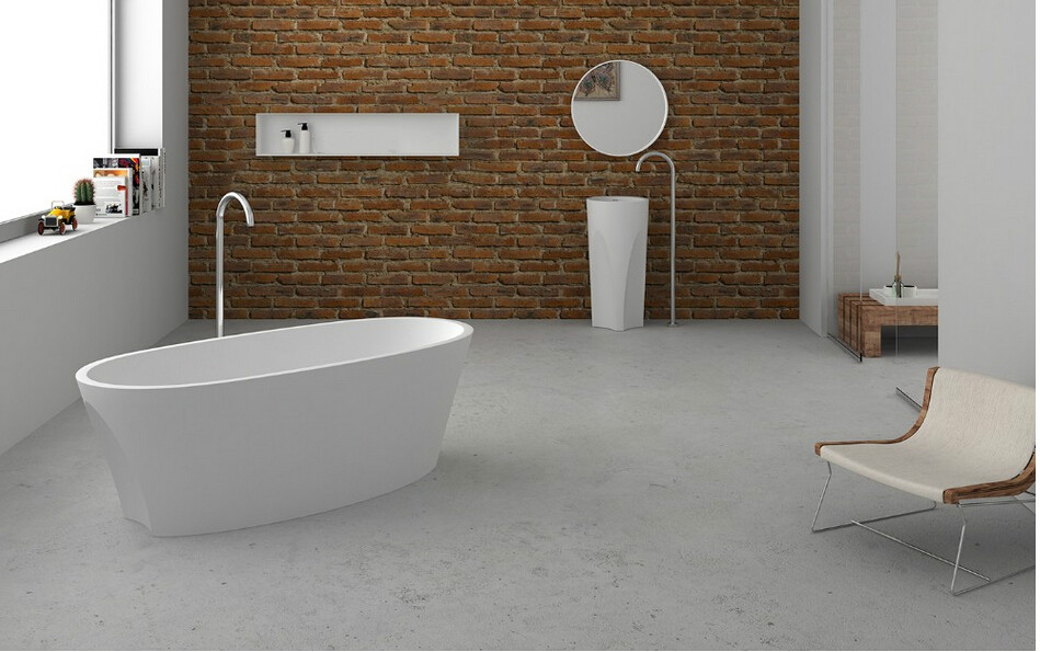 1700x800x480mm Solid Surface Stone CUPC Approval Bathtub Oval ...