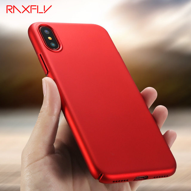 free shipping 970fc ec3f4 US $3.84 |RAXFLY For iPhone X Case Luxury Matte Hard Case For iPhone X  Ultra Thin Red Black Case For iPhone X Cover Shell Phone Cases-in Fitted  Cases ...