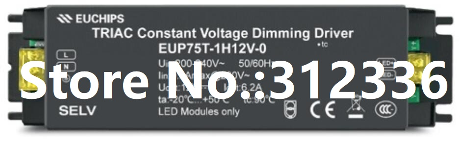 Free Shipping Power Supply EUP75T-1H12V-0 900mA dimming dimmable Constant Current LED driver Single Switch Reliability Miniature 90w led driver dc40v 2 7a high power led driver for flood light street light ip65 constant current drive power supply
