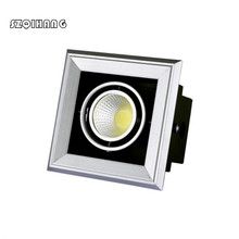 Hight Light LED Ceiling Downlight 10W 2X10W 3X10W COB AC110V 220V Square Recessed Dimmable Down light