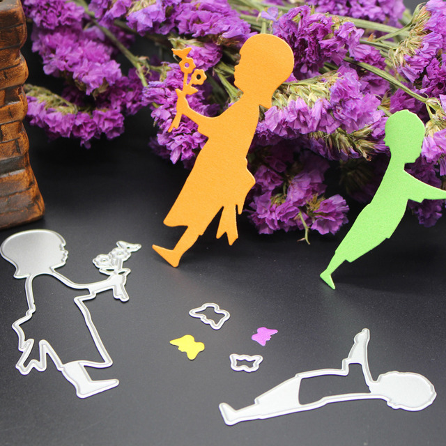 Boy with Flowers Sbook Paper Craft Decoration Die DIY Steel ... Couple Home Craft Designs on home design, home cleaning, home games for girls, home illustration, home bed, home feet, home animation, home quilt block, home breakfast, home cars, home rock wall, home nature, home home, home diy, home decor,