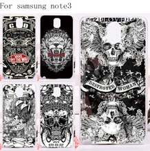 2016 New Print Scared Skull Head Phone Cover For Samsung Galaxy Note III 3 Note3 Cases Plastic and Soft TPU Protective Housing