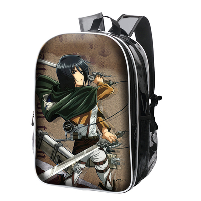 Anime Attack on Titan Cosplay Anime backpack Korean college style pu female male student bag birthday gift anime tokyo ghoul cosplay male and female students bag korean couples anime leisure pu leather backpack child birthday gift page 1 href
