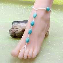 Hot Sale Summer Beach Jewelry Anklets For Women Flower Anklet Bracelet Foot Chain Braefoot Sandals Tobillersa Mujer Leg Cheville