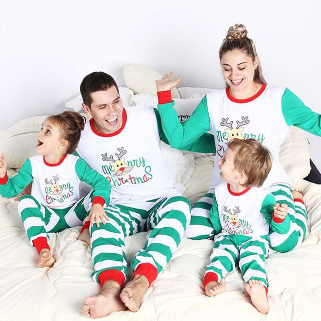 5416abbc2d Christmas Adult Kids Family Matching Pajama Sets Women Men Kids Sleepwear  Nightwear Sleeping Clothes Sets Mom Dad Me Family Sets