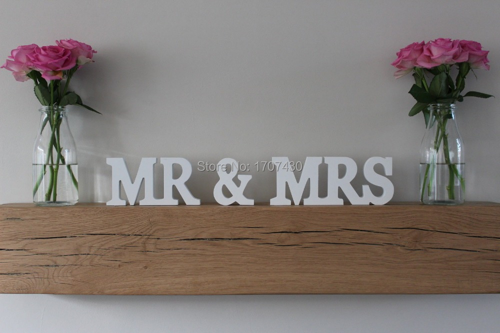 Mr& Mrs set wedding table decor. Mr and Mrs head table sign for wedding. Photo Prop. Wed ...