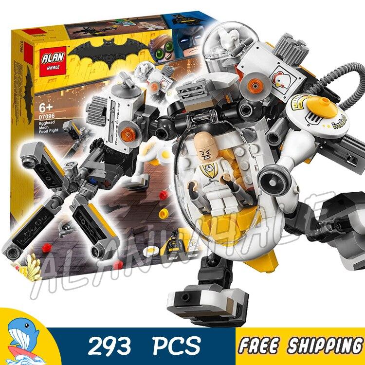 293pcs Super Heroes Batman Movie Egghead Mech Food Fight Condiment King 07096 Model Building Blocks Toys Compatible With lego