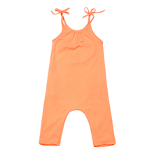 Spring Girls Toddler Girls Kids Halter Strap Romper Harem Pants Trousers One-Piece 4 Strings Orange Summer Baby Girl Clothes