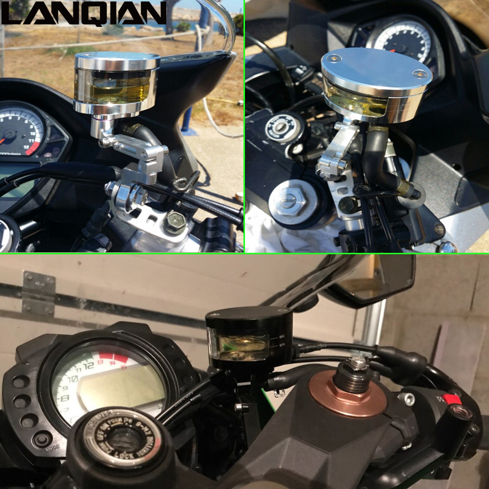 Black Motorcycle Reservoir CNC Billet Racing Front /& Rear Master Cylinder Fluid Oil Reservoir Brake Tank Cup Part Transparent Cup For Yamaha YZF R6 2005 2006 2007 2008 2009 2010 2011 2012