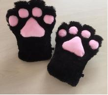 Soft Anime Cosplay Plush Cute Bear Cat Kitten Paw Claw Gloves for Halloween Party Women Accessories