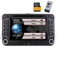 Car Stereo In Dash 2Din For VW GPS Navigation 7 DVD Multimedia Player AM FM Radio