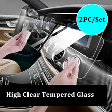 2pcs/set 12.3 Inch Car Navigation Tempered Glass For Mercedes Benz E Class W213 2017- 2019 S Class W222 2018 Screen Protector(China)