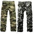 Novo Estilo de Moda dos homens do Bolso Camuflagem Calças Casuais Espessamento Calças Calças De Carga 2 Cores LB