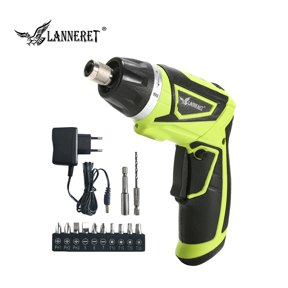 цены LANNERET CS7.2SL01 7.2V Li-Ion Cordless Electric Screwdriver Household Rechargeable Twistable Handle