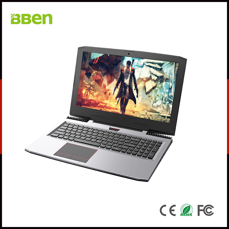 BBEN G16 15.6'' Laptop Windows 10 Nvidia GTX1060 GDDR5 Intel i7 7700HQ 16GB RAM M.2 SSD IPS RGB Backlit Keyboard Gaming Computer(China)